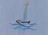 Křestní rouška - 2 Lodička s křížem